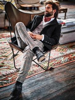 Gentleman-Hose Karo grau Detail 3