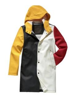 Raincoat Joker schwarz/weiß/rot Detail 1