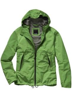 Windbrecher-Jacke grasgrün Detail 1