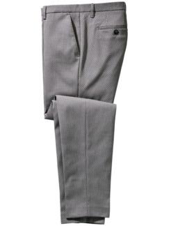 Doppiopetto-Anzughose grau Detail 1
