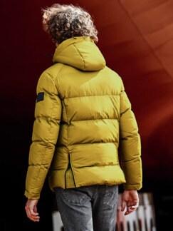Polar-Jacke senf Detail 2