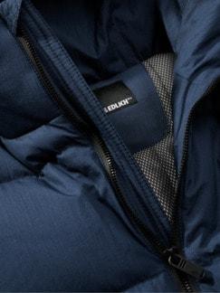 Polar-Jacke blau Detail 4