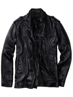 LEDERWERK Jacke I Light schwarz Detail 1