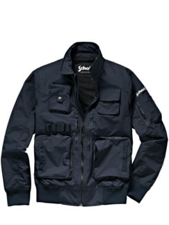 Schott Blouson Jones tiefblau Detail 1