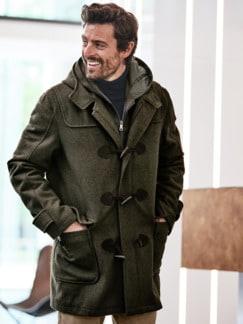 Monty Coat dunkelgrün Detail 3