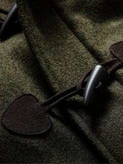 Monty Coat dunkelgrün Detail 4