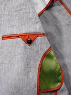 Design-Sakko Distinzione grau Detail 4