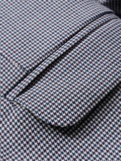 Ikonen-Anzugsakko Karo rot/blau Detail 4