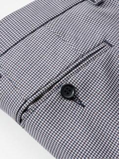 Ikonen-Anzughose Karo rot/blau Detail 3