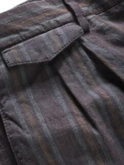 Yollu-Leinenhose Streifen violett Detail 3