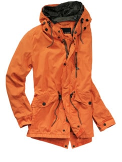 Urbaner Sommerparka orange Detail 1