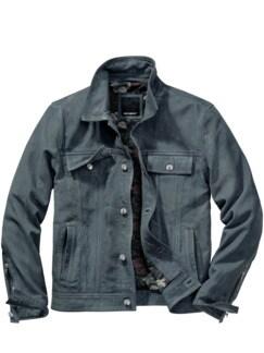 Leder-Jeansjacke blau Detail 1