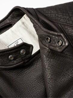 Ninja-Lederjacke dunkelbraun Detail 4