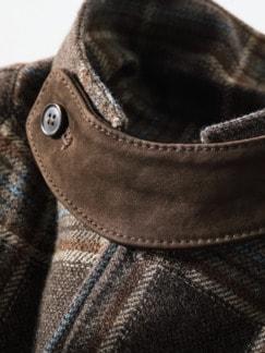 Hunter Coat Tartan braun Detail 3