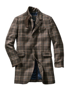 Hunter Coat Tartan braun Detail 1