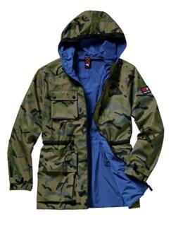 Double Face Jacke camouflage grün/royalblau Detail 1