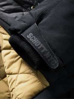 Schott Fieldjacket schwarz Detail 3