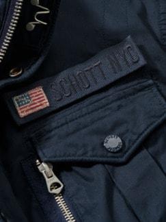 Schott Jacke Squad navy Detail 4