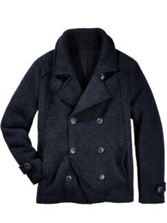 Urban Pea Coat blau/schwarz Detail 1