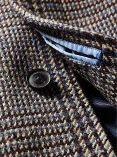 Magee 1866 Mantel Tartan tartangrau Detail 3