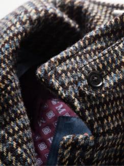 Magee 1866 Mantel Tartan tartangrau Detail 4