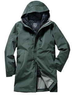 Scandinavian Raincoat minze Detail 1