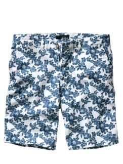 Ming-Shorts weiß/blau Detail 1