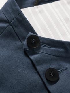 Designerstück P-Jacket marine Detail 4