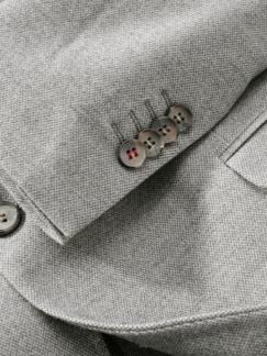 Bordcase-Anzugsakko heathergrey Detail 3