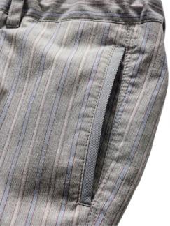 Havanna Pants Streifen grau/hellblau Detail 4