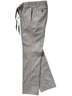 Havanna Pants Streifen grau/hellblau Detail 1