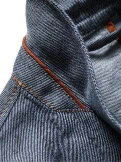 Doppelrollen-Sakko hellblau Detail 4