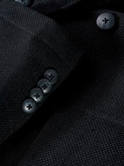 Leinenanzugsakko schwarz Detail 4