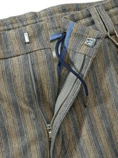 Shorts Cijuno Streifen sand/blau Detail 3