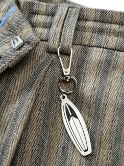 Shorts Cijuno Streifen sand/blau Detail 4