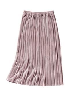 Glamour-Plisseerock rosa Detail 1
