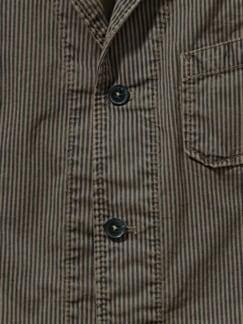Craftsman-Weste vintage braun Detail 3