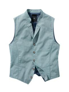 Shirt-Weste azur Detail 1