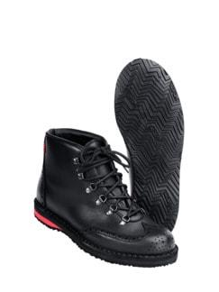 Bergsteiger-Boot schwarz/rot Detail 1
