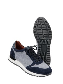 Manufaktur-Sneaker Max grau/blau Detail 1
