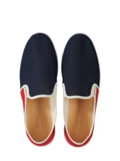 Rivieras Slipper France rot/blau Detail 1