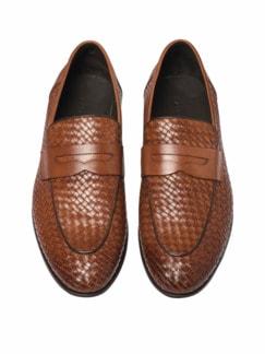 Geflochtener Loafer braun Detail 3