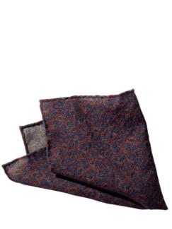 Kornblumen Einstecktuch rot/blau Detail 1
