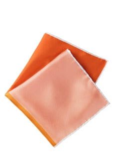 4xKolorit-Einstecktuch orange Detail 1