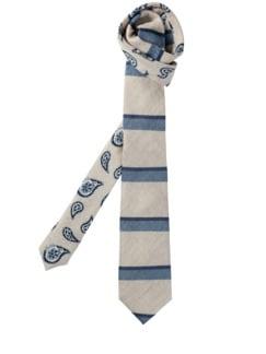 Wasserspiegel-Krawatte weiß/aqua Detail 1