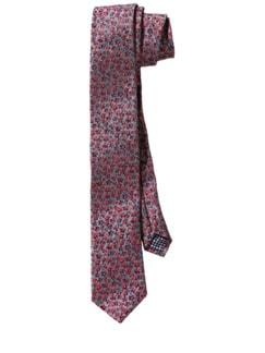 Woven-Flower-Krawatte grau/blumig Detail 1