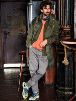 Indigo Bandana dunkelblau/weiß Detail 3