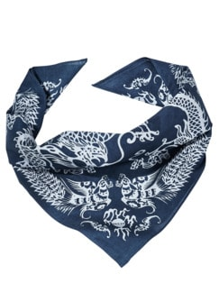 Indigo Bandana dunkelblau/weiß Detail 1