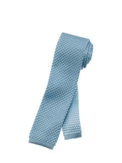 Italienische Strickkrawatte hellblau Detail 1