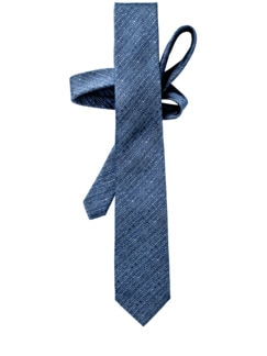Sprenkel-Krawatte Streifen blau/weiß Detail 1